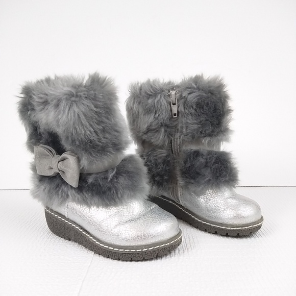 Boots W The Fur Grey Size 6 Baby Girl